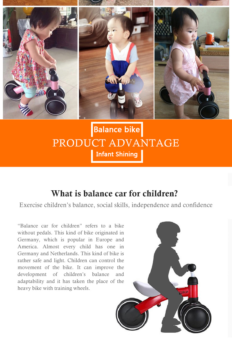 HTB1H SGmjuhSKJjSspjq6Ai8VXac New brand children's bicycle balance scooter walker infant 1-3years Tricycle for driving bike gift for newborn Baby buggy