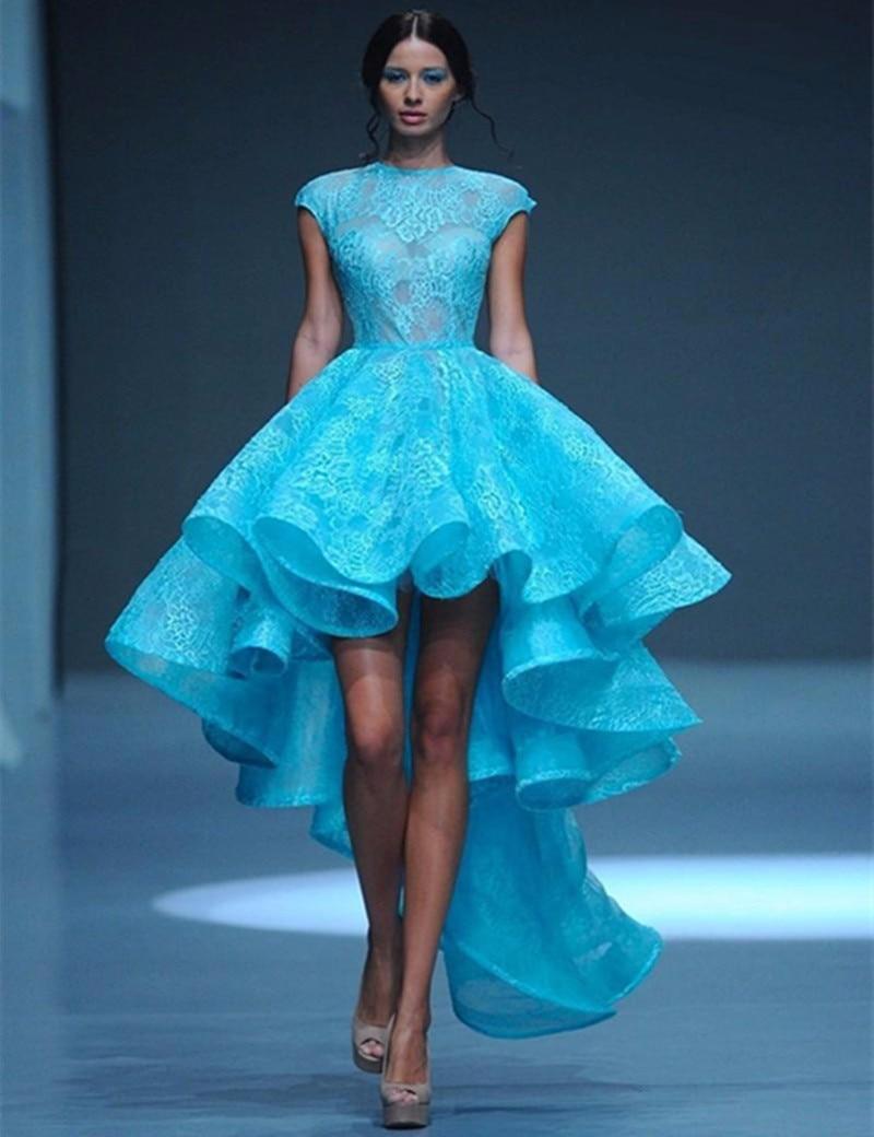 Elegant Short Front Long Back Cheap Evening Party Dresses Plus Size ...