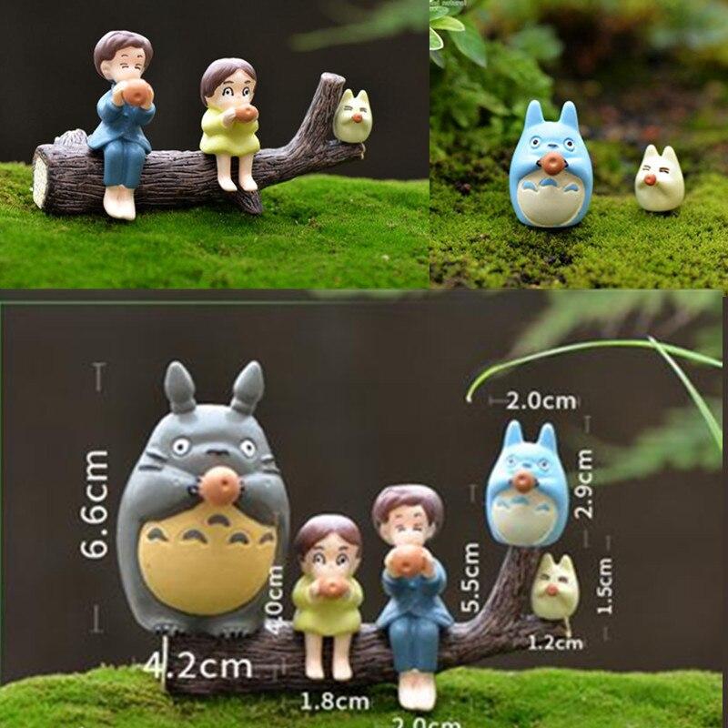 5 Adet Grup Totoro Aksiyon Figurleri Karikatur Anime Komsum Guduk Oyuncaklar Rakamlar Cocuklar Dogum Gunu Hediyeleri 10242 Cm