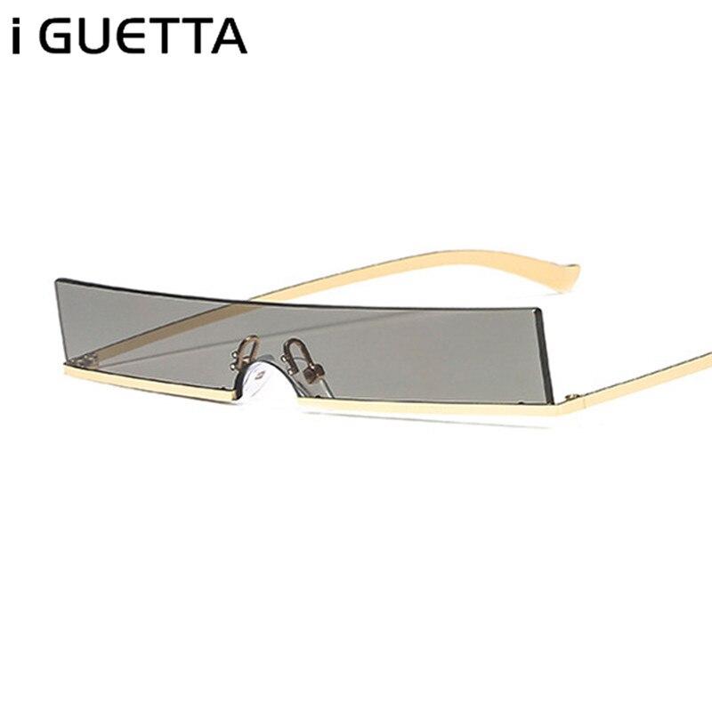 IGUETTA Carré lunettes de Soleil Femmes lunettes en métal Cadre De Luxe Cool lunettes de soleil de créateur Femmes 2019 qualité supérieure UV400 PU-047