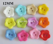 NB032 plastic button 800pcs 12mm flower shape fashion buttons assorted craft