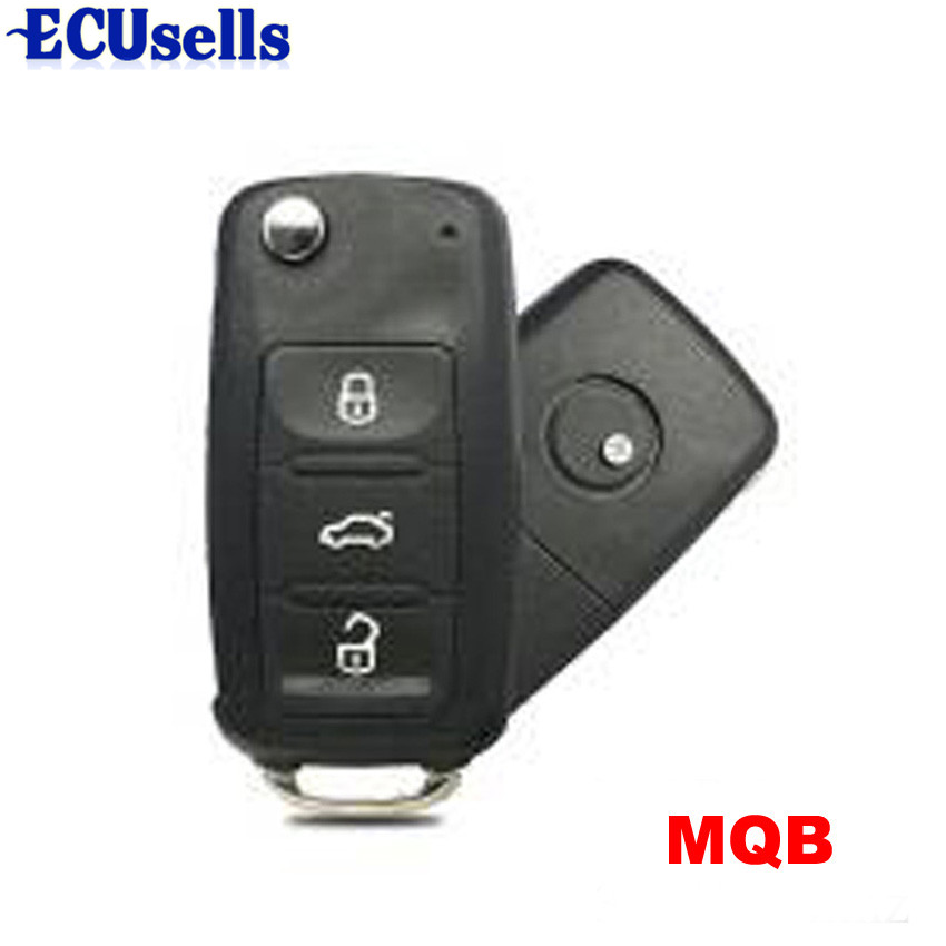 MQB System Smart Modified Folding Remote Key 3 Button 315MHz 433MHz HU66 for Volkswagen