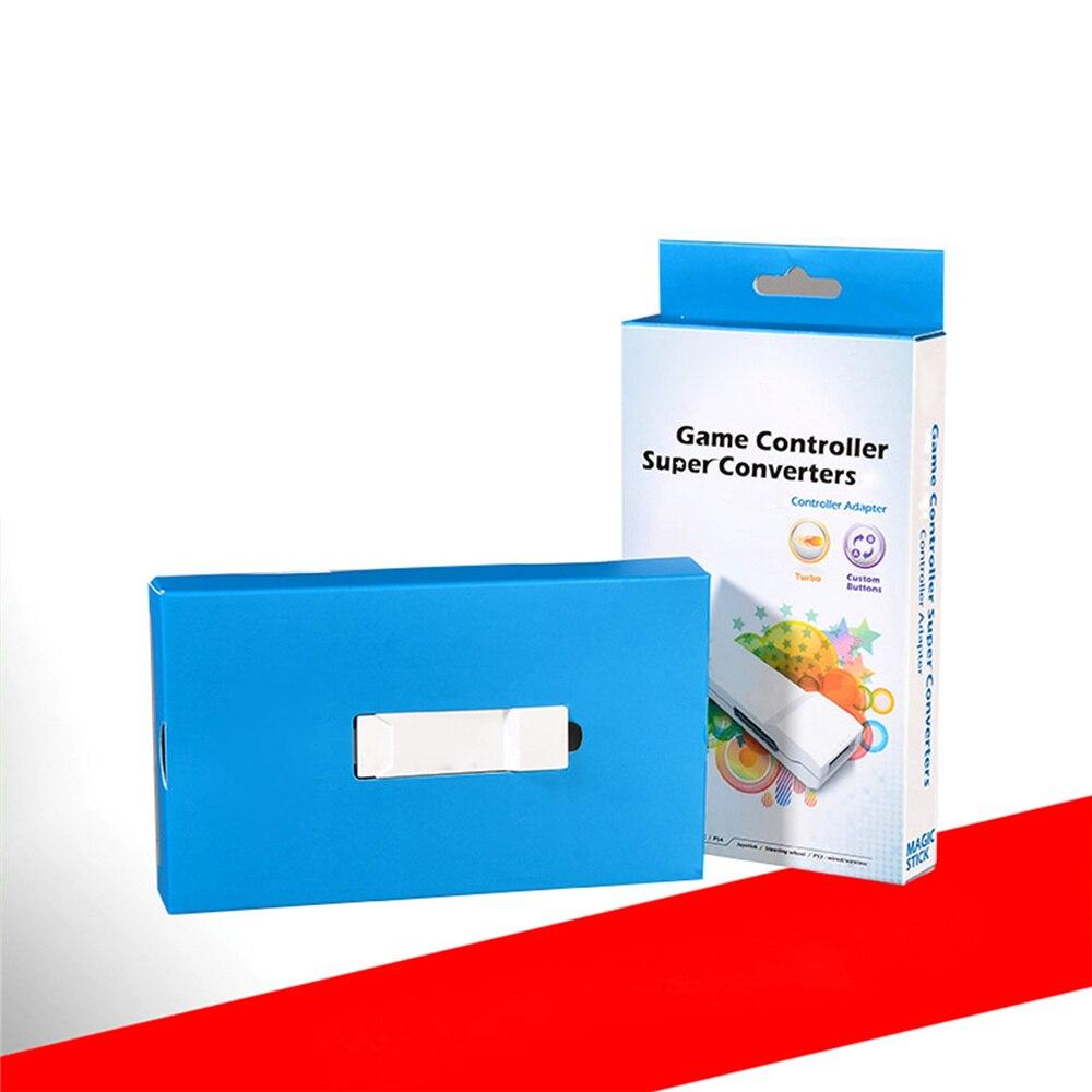 XBERSTAR Plug & Play Vibrations soutien Plate-Forme PS3 à PS4 console de Jeu Convertisseur connecteur Contrôleur Adaptateur Blanc