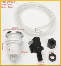 On Off PUSH BUTTON switch Jetted Whirlpool Jet Bath Tub Spa Garbage Disposer Disposal Air Switch Kit - push button