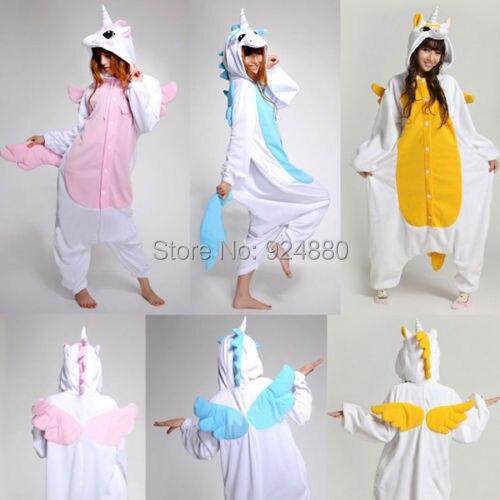 0c3f8bd143 Nueva franela unicornio Pijama de dibujos animados Cosplay para adultos  Unisex Homewear Onesies lindos para adultos