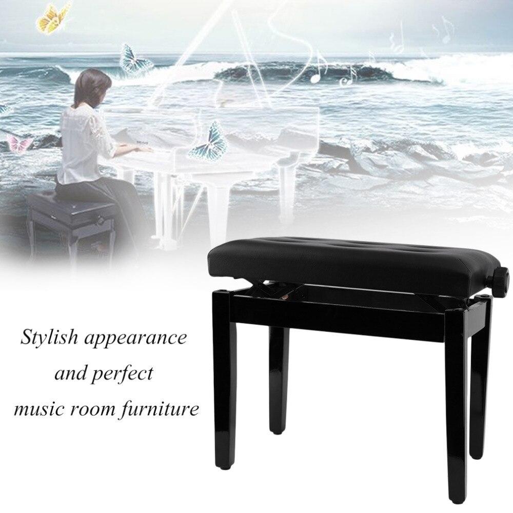 Hauteur réglable Piano tabouret chaise Piano clavier banc tabouret rembourré en cuir bois siège musique chambre meubles