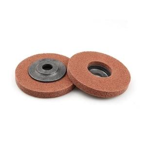 Image 3 - 10 adet 100*12*16 A/O olmayan dokuma birim parlatma tekerlek naylon taşlama diski açı öğütücü araçları yumuşak Metal kaplama