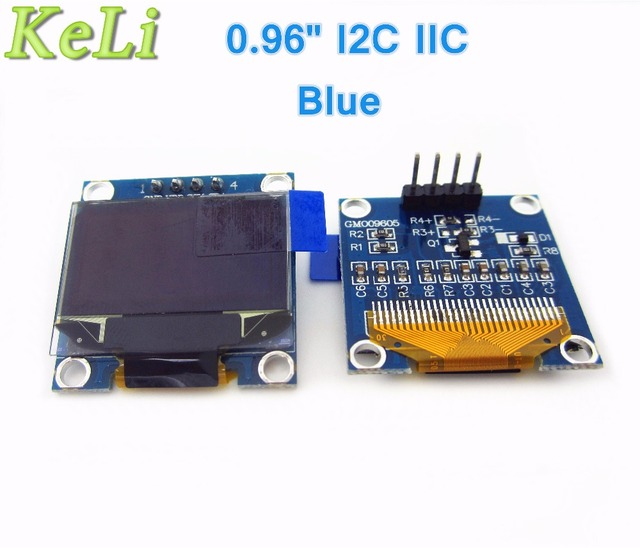 "tiegouli 1Pcs 128X64 Blue OLED LCD LED Display Module 0.96"" I2C IIC SPI Serial"