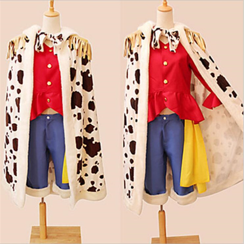 Japanese Anime One Piece Monkey D Luffy Cosplay Costumes Adult Boys Masquerade Christmas Performance Clothes Free Shipping