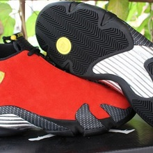 cd06c196a1eb Jordan Retro 14 Men Basketball Shoes Red Suede Black Toe Blue Suede Thunder  Yellow DESERT SAND