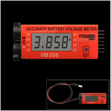 Register shipping 1pcs VM006 1 6S LiPo Battery Accurate Battery Voltage Meter LCD Liquid Crystal Display