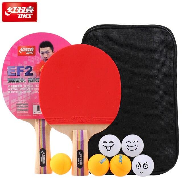 62ca6ddca Tênis de mesa dupla felicidade bola de ténis de mesa Ping Pong Paddle  Longo Punho