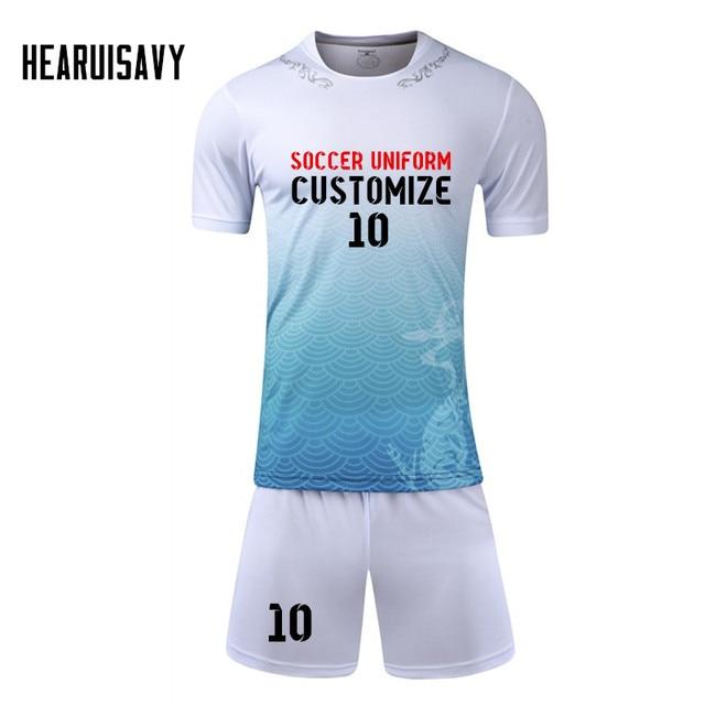 2018 New Dragon Prints Football jerseys Kids Soccer Training Suits Sports  Sets Football Kits Custom Jerseys Child Youth Uniforms a242429ce