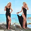 Women Beach Dress Wrap Open-Back Swimwear Summer Cover-Ups Sexy V-neck Beach Wear Bikini Cover-up Skirt Scarf Shawl Towel T0084 1