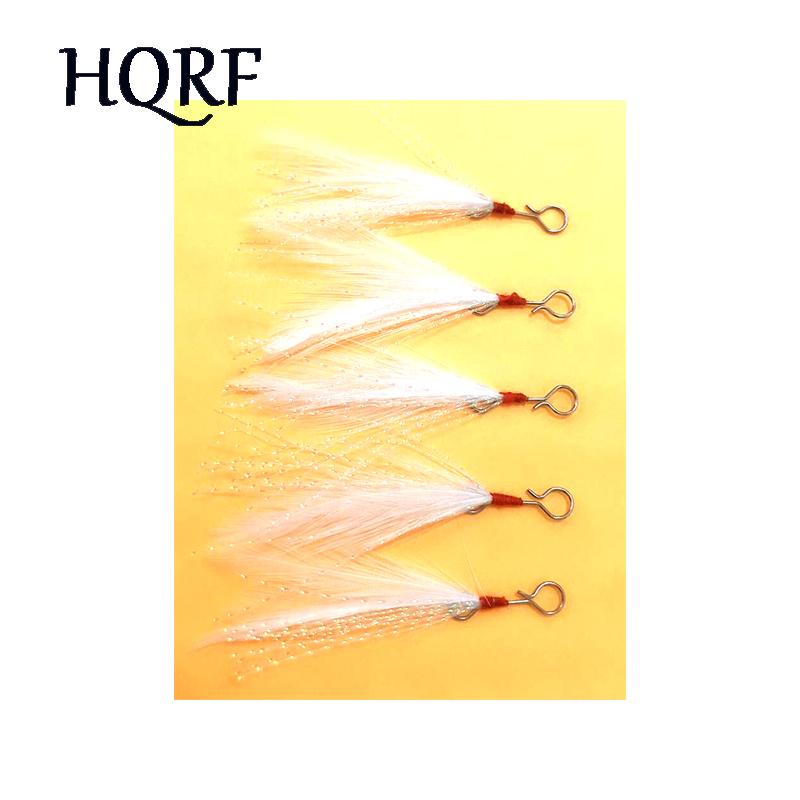 5pcs Feather With Luminous Skirt Tail Fishing Tackle Hook Assist For Hard Bait Jigging Lures Swimming Soft Bait Metal Jig