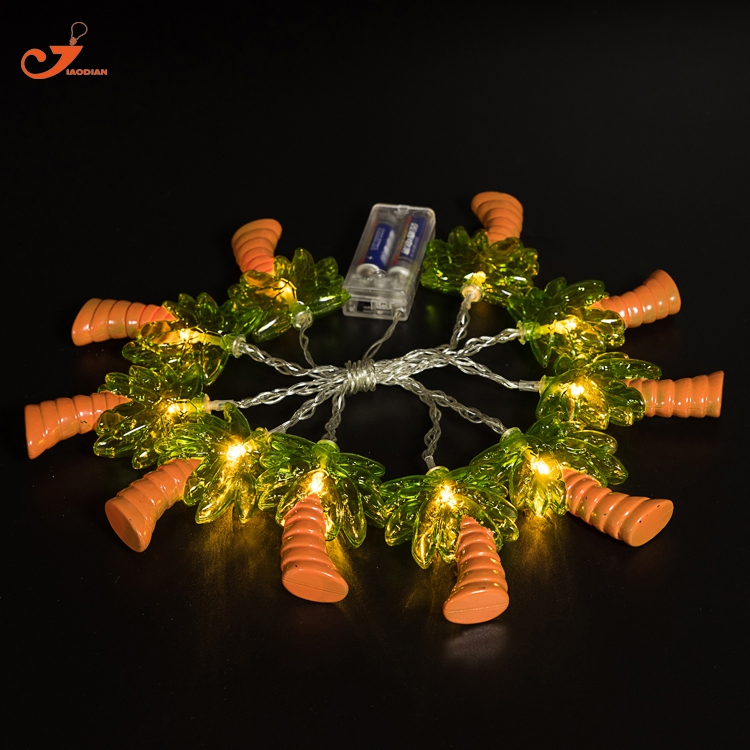 Palm Tree Lights Christmas.Us 12 99 Coconut Tree Light Palm Tree String Lights Fairy Holiday 10led Tropical Fruit Lighting Battery Powered Party 3v Aa Indoor In Holiday