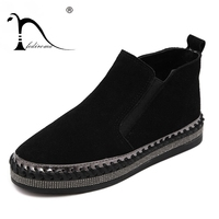 Top Quality Genuine Leather Flat Martin Ankle Boots Autumn Shoes Women Rhinestone Trim Woman Winter Cow Leather Boot shoe