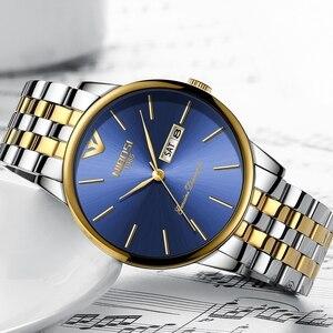 Image 2 - NIBOSI Simple Style mode hommes montre à Quartz de luxe semaine Date en acier bande étanche décontracté hommes montre bracelet Relogio Masculino