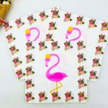 20pcs/lot Flamingo Party Supplies Paper Napkin Baby Shower Theme Favors Kids Girl Cartoon Birthday Decoration