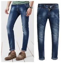 Верхний прямых продаж средняя смягчитель полная длина 2015new прибытия мужские джинсы простирание мужчины в приталенный Fit Size28-36 Oem 219