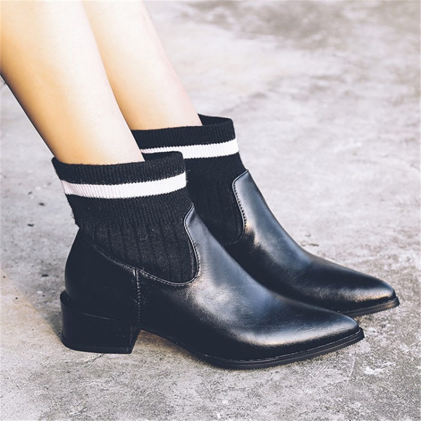 NAYIDUYUN női csúszósapka magas sarkú lábujjhegyre sarok - Női cipő