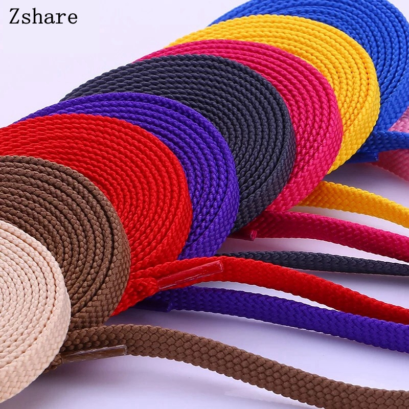 1Pair Fashion Sports Casual Shoe Lace Solid Flat Shoelace Double Flat Laces High Quality Polyester Shoelaces 28Colors