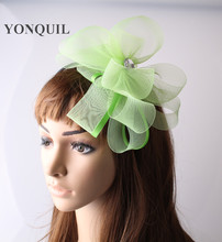 Ladies elegant feather flowers women hair accessories fancy fascinators for wedding hats bridal headwear clips and