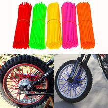 24CM Bike Wheel Spoke Protector Colorful Motocross Rims Skins Covers 36pcs motorcycle bick wheel rim spoke skins covers wrap tubes decor