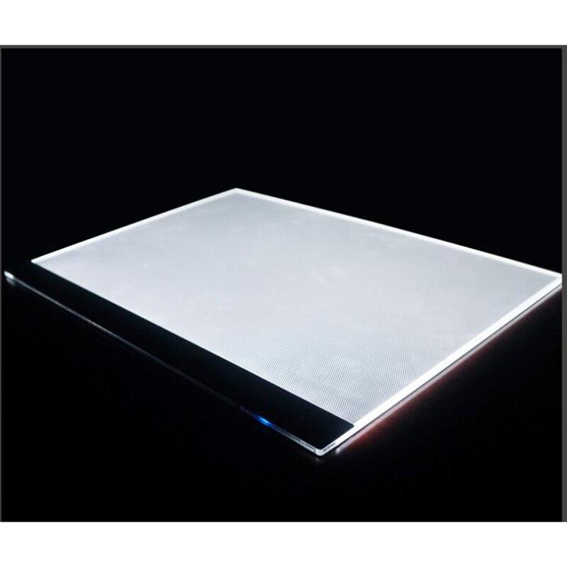 Dimmable Ultra Thin A3 LED Light Tablet Pad Apply to EU UK AU US USB Plug