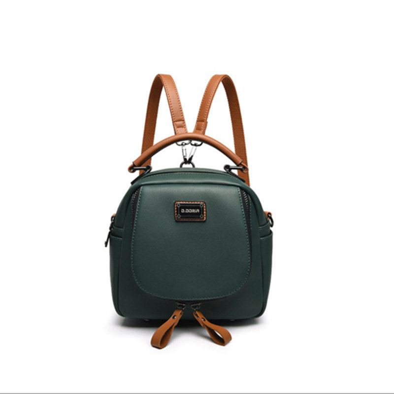 Retro Style Backpack Women PU Leather Backpacks For Teenage Girls School Bags New 2018 vintage Solid Green Shoulder Bag Mochila simple preppy style backpack women pu leather backpacks for teenage girls school bags fashion vintage solid shoulder bag black