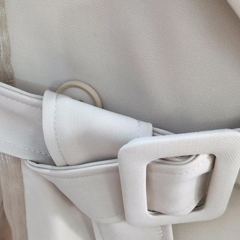 Nouvelle Lanterne Femelle Tulle Yd Ceintures Vêtements Vintage ever Khaki vent Longue Haute Coupe Mince Manteau Tranchée Manches 2018 Windbreaker D'été Taille qSTwfIXwn