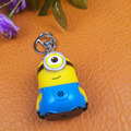 2016 new arrive Despicable me minion  Keychain ,gift for lovers Doll PVC Action Figure Toy Kids