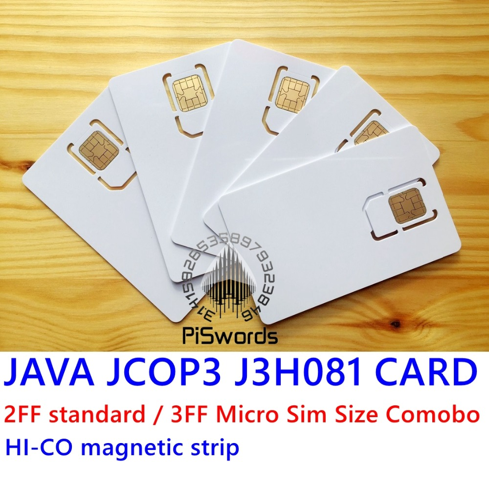 ‰Closeout DealsIC Smart-Card with Hi-Co Magnetic-Strip 2ff/Standard/3ff Size JAVA Connect JCOP3 J3H081