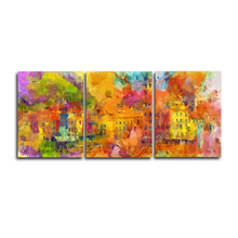 Laeacco Abstract Graffiti Wall Art Pictures 3 Panel Watercolor Canvas Paintings Posters and Prints Home Living Room Decoration