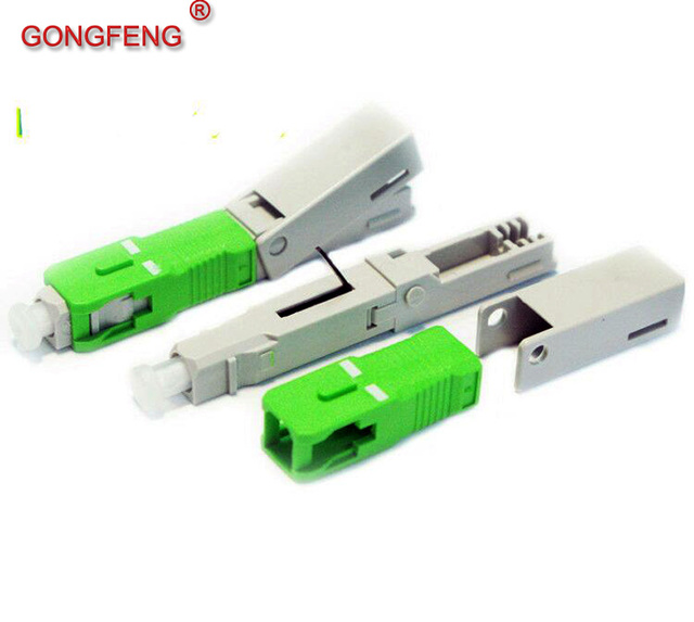 GONGFENG 100pcs NEW High-end SC Optic Fiber Fast Connector SC/PC/APC Telecom class Quick Connector Special wholesale TO Brazil