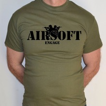 17875585a6 Fashion Mens Fashion O-Neck casual AIRSOFT ENGAGE SAS BRITISH SPECIAL  FORCES ARMY MILITARY T