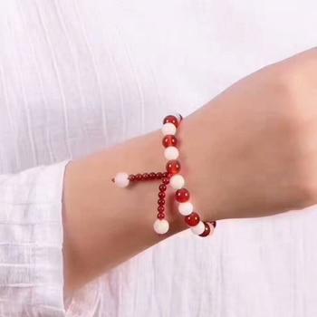 Bracelet Cornaline Et Pierre De Lune