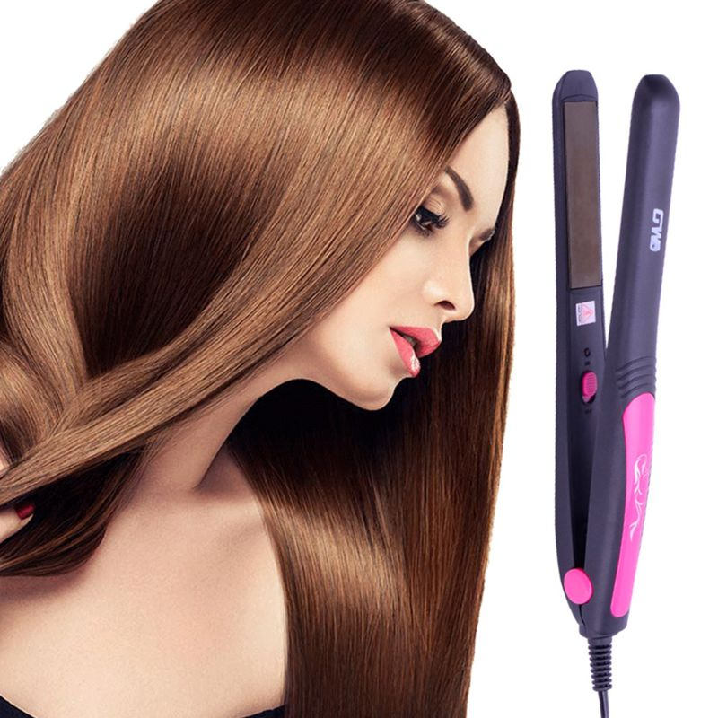 110-220V EU Plug Professional Hair Straightener Tourmaline Ceramic Heating Plate Adjustable Temperature Styling Tools Travel  110-220V EU Plug Professional Hair Straightener Tourmaline Ceramic Heating Plate Adjustable Temperature Styling Tools Travel