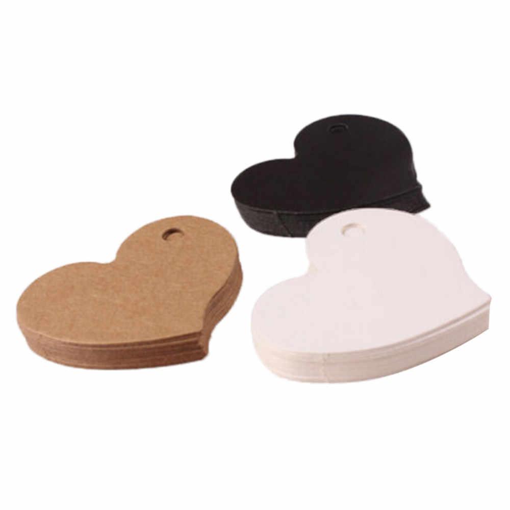 50/100 piezas por lote etiqueta colgante hecha a mano papel kraft gracias Etiqueta de regalo para boda/dulces/bebé regalo