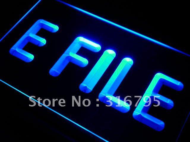 I273 efile E archivo Servicio de Impuestos llevó la luz de neón luz signos/interruptor 20 + colores 5 tamaños
