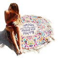 Hippie Round Mandala Tapestry Swimsuit Cover Ups Swim Towel Bathing Suit Cover-ups Beach Mat Beach Blanket L38341