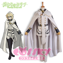 Anime Seraph of the End Hyakuya Mikaera Cosplay Costume city guard Army Uniform w/Cloak Custom Made