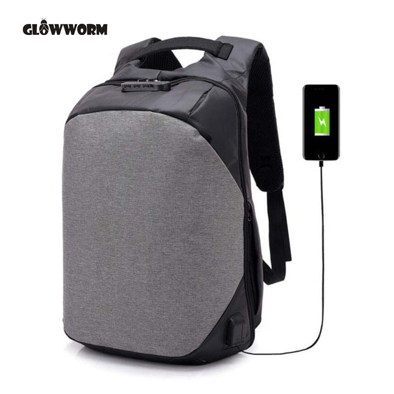 Laptop Backpack USB Charging Anti Theft Backpack Men Travel Backpack Waterproof School Bag bobby Male Mochila