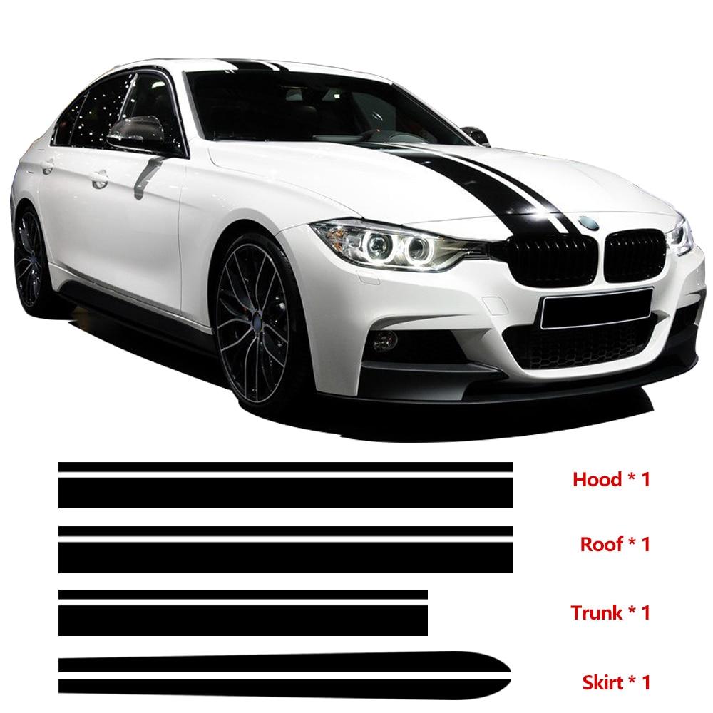 Hood Roof Trunk Bonnet Side Skirt Stripe Kit Decal Vinyl  Stickers for BMW F30 E90 E92 E93 2017 side bonnet cover for mitsubishi l200 triton bonnet hood cover for mitsubishi 2016 for ycsunz