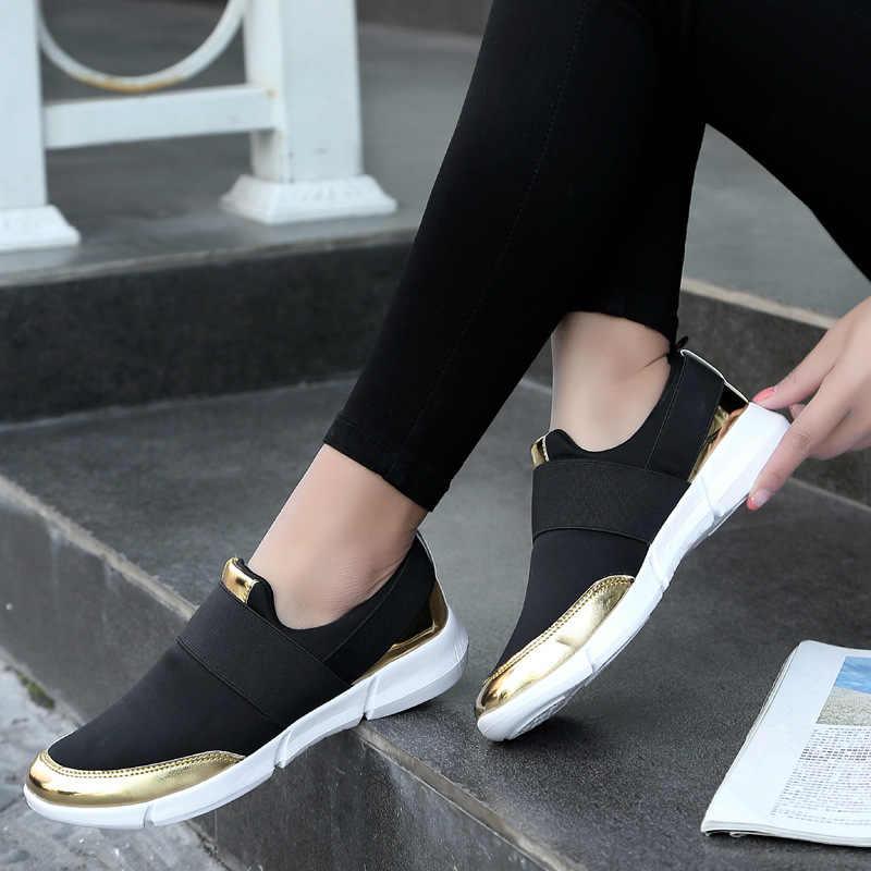 LAKESHI Donne Mocassini Donne Leggeri Scarpe in Mesh Traspirante scarpe Da Tennis Delle Donne Casual Scarpe Grigio Morbido Femminile Scarpe 35-42