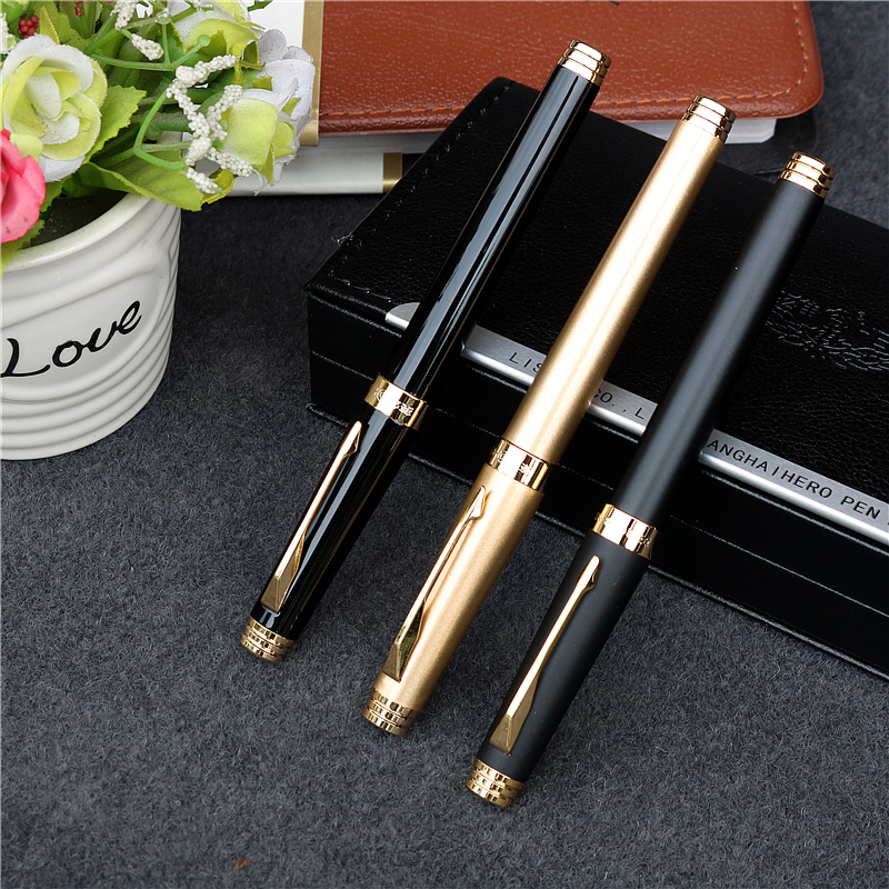 Jinhao X450 Executive Deep Blue Stylo plume Nib Golden Clip And Trim