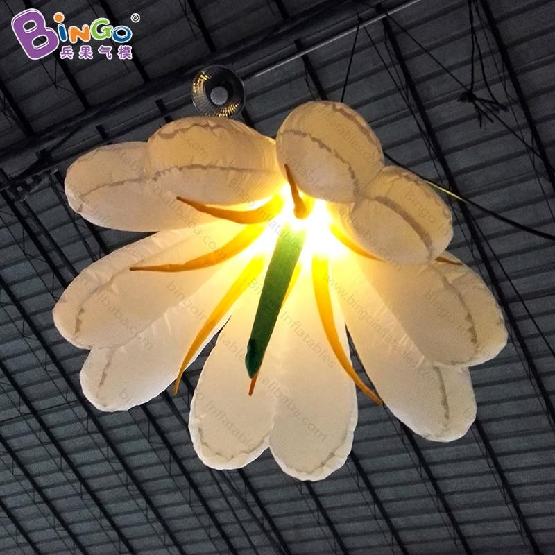 Бесплатная доставка светодиодный освещения 1.5 м гигантские надувные украшение цветка Для свадебной вечеринки висит Лили модели игрушки ша...