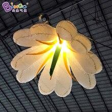 Бесплатная доставка светодиодный освещения 1.5 м гигантские надувные украшение цветка Для свадебной вечеринки висит Лили модели игрушки шар для продажи