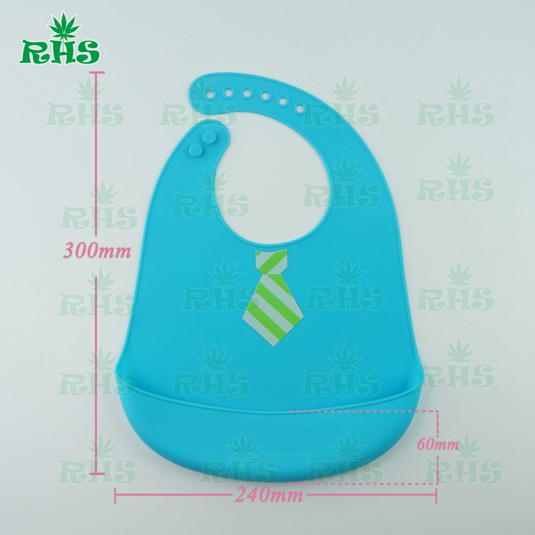 2pcs free shipping Waterproof, durable , easy to clean food grade silicone baby bids wit ...