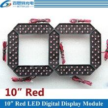 """4 개/몫 10 """"붉은 색 야외 7 7 세그먼트 LED 디지털 번호 모듈 가스 가격 LED 디스플레이 모듈"""